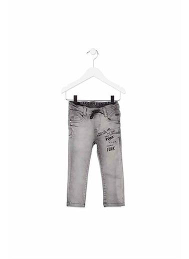 Losan Losan Erkek Çocuk TaŞlanmıŞ Slim Fit Denim Pantolon Gri